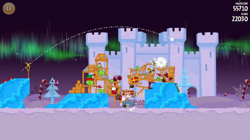 Angry Birds Seasons - Winter Wonderham Зимнее чудо