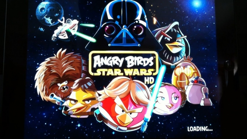 Angry Birds Star Wars - Начало Angry Birds Star Warsa