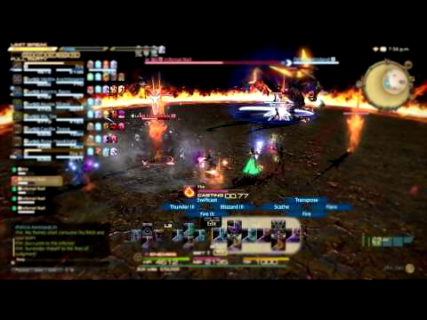 FINAL FANTASY XIV: A Realm Reborn Ifrit Hard Mode PS4 Gameplay