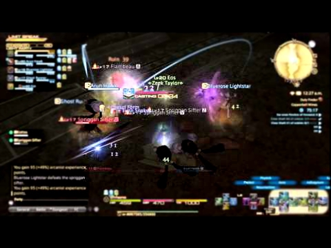 Final Fantasy XIV: A Realm Reborn - Copperbell Mines Dungeon  Scholar Gameplay