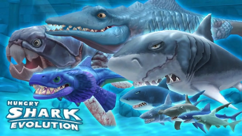 Hungry shark world - смерть акулы в логове морских чертей