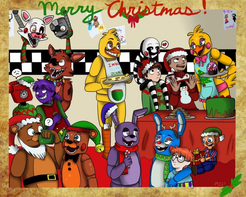 Merry FNAF Chrisas Song - JT Machinima