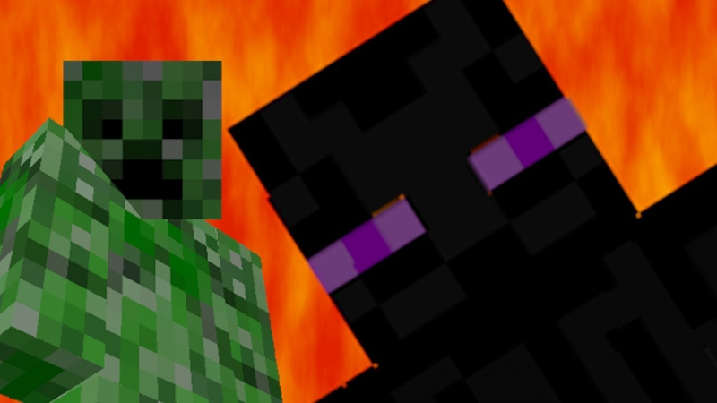 MineCraft - Epic Rap Battle Creeper VS EnderMan