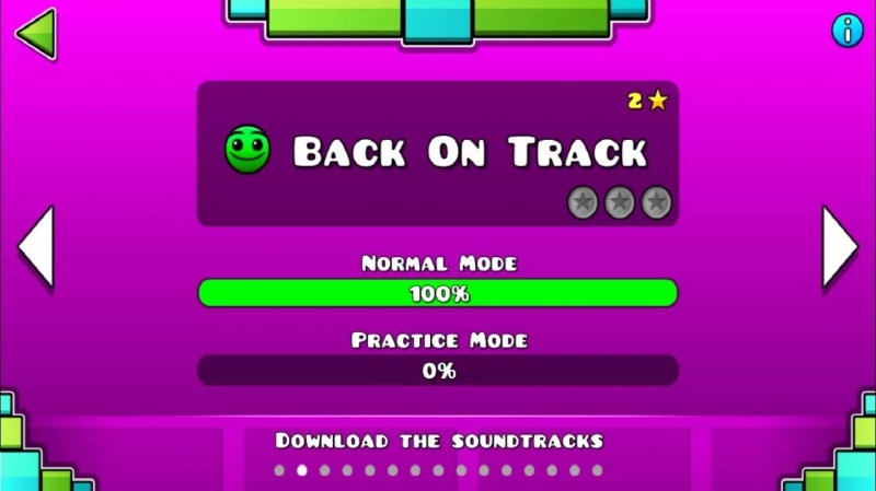 geometry dash - back on track
