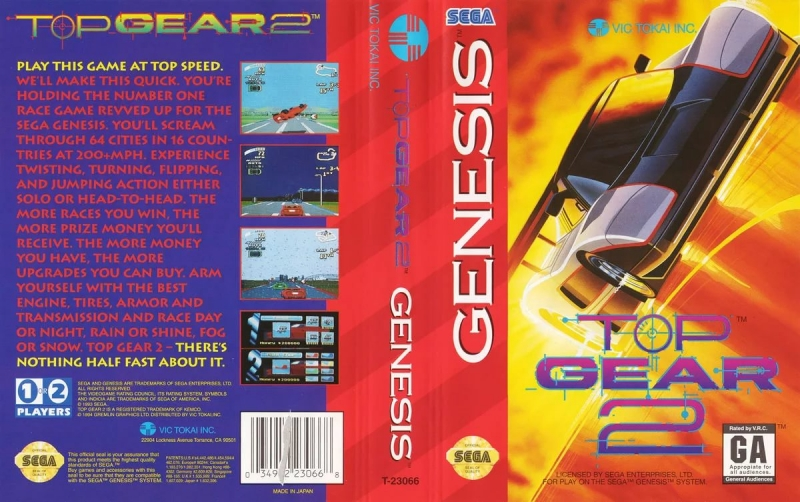 OST SEGA MD2 - Top Gear 2 1
