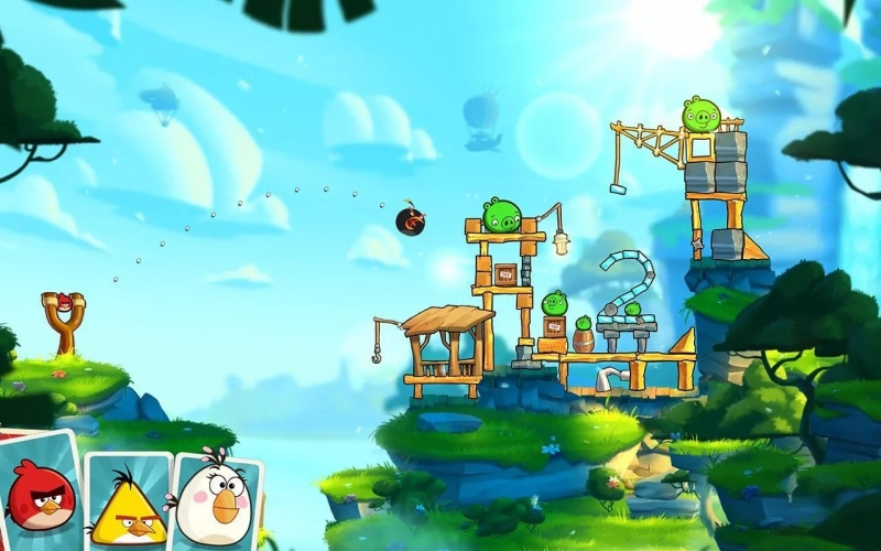 The Angry Birds С игры Angry Birds