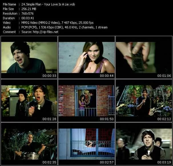 The Simple Plan - Your Love Is a Lie