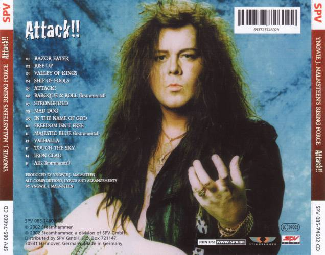 Yngwie J. Malmsteen's Rising Force - Touch The Sky Attack 2002